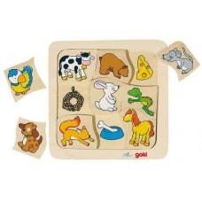 Goki Παζλ Ενσφήνωμα-Τα Ζώα και το Φαγητό τους 56880