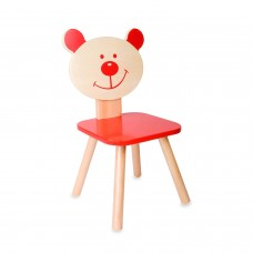 Classic World Ξύλινη παιδική καρέκλα κόκκινη Αρκούδος 4802