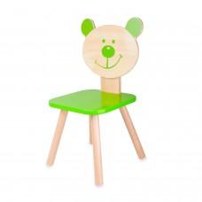 Classic World Ξύλινη παιδική καρέκλα λαχανί Αρκούδος 4803