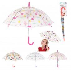 Παιδική διάφανη ομπρέλα 3σχέδια PL353