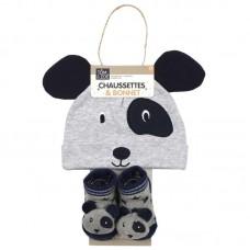 Σετ Σκουφάκι καλτσάκια για νεογέννητα Panda PU2168