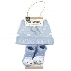 Σετ Σκουφάκι καλτσάκια για νεογέννητα Cloud PU2168