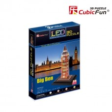 3D LED Puzzle Big Ben London UK CubicFun L501H