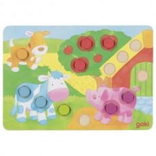 Goki Επιτραπέζιο παιχνίδι χρωμάτων με ζάρια II 56813