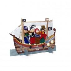 Δαχτυλόκουκλες με Kουκλοθέατρο-Πειρατές  Londji TT028U