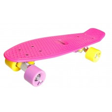 New Sports Kickboard pink with yellow and purple wheels 73415756
