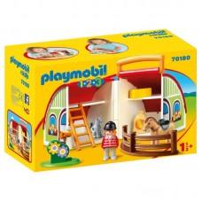 Playmobil 1.2.3 Αχυρώνας-Βαλιτσάκι