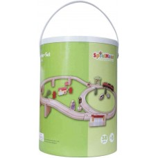 Ξύλινο τρένο με ράγες 38τεμ 42523399 Spielmaus