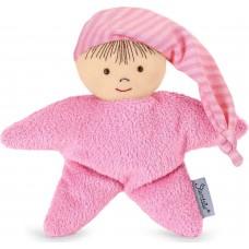 Πάνινο κουκλάκι-κουδουνίστρα αγκαλιάς ροζ 3001451 Sterntaler