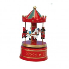 Wooden carousel red/green 21cm 16009