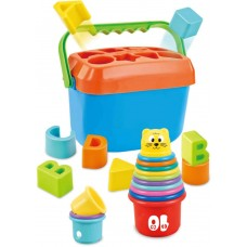 Baby stacking tower and plug-in box SpielMaus 40814078