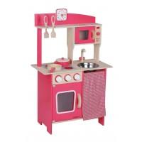 Beeboo Ξύλινη κόκκινη κουζίνα με αξεσουάρ