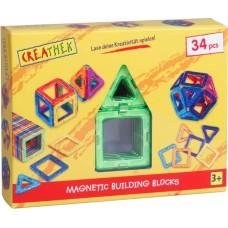 Creathek Μαγνητικά σχήματα 34 τεμάχια 63016501