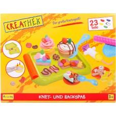 Creathek Ζαχαροπλαστική με πλαστελίνες 23τεμ. 63222445